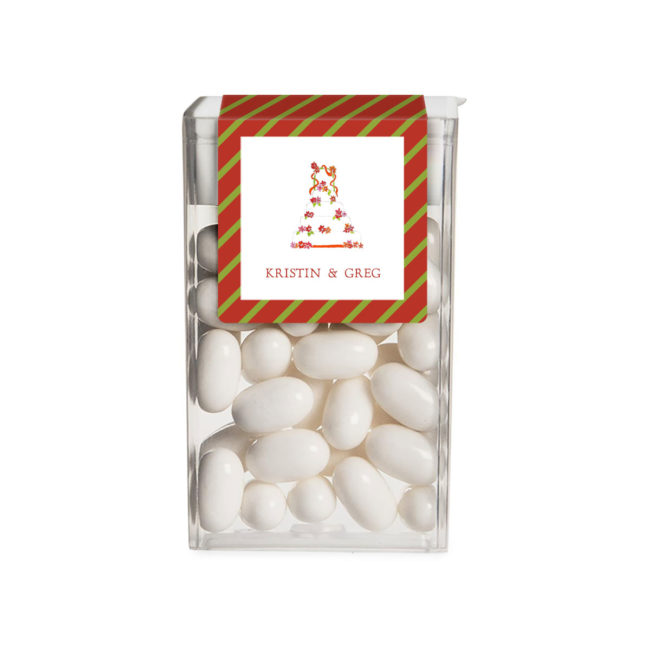 Wedding Cake with Ribbons image adorns a Tic Tac Label