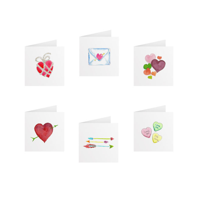 Valentine's Day Gift Enclosures printed on White paper.