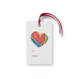 Colorful Heart Glittered Gift Tag