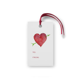 Heart and Arrow Glittered Gift Tag