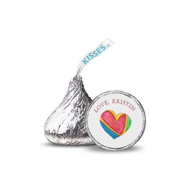 Colorful Heart candy sticker