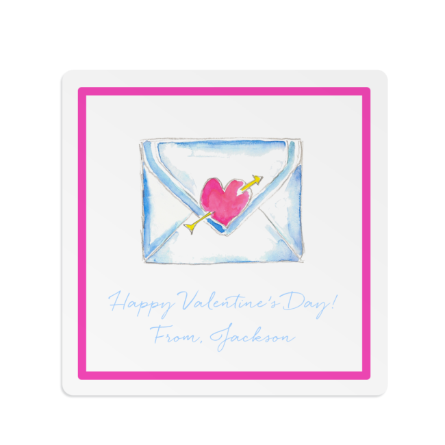 Love Letter image printed on a Square Gift Sticker
