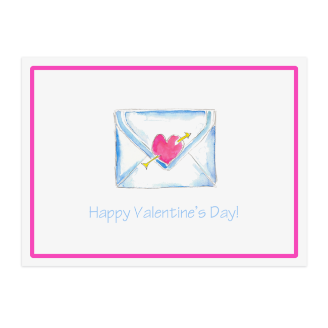 Love Letter image printed on a Paper Placemat
