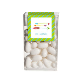 Personalized favor featuring the Sweetheart Arrows Tic Tac Sticker