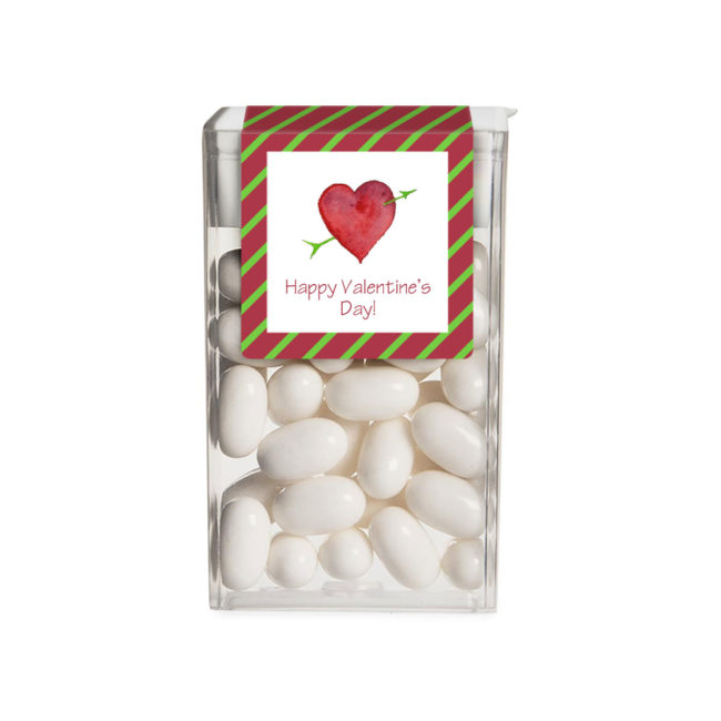 Personalized Favor Heart and Arrow Tic Tac Sticker