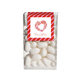 Personalized party favor Tic Tac Sticker featuring Heart of Flowers image