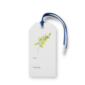 Fern image adorns a Classic Gift Tag printed on White paper.
