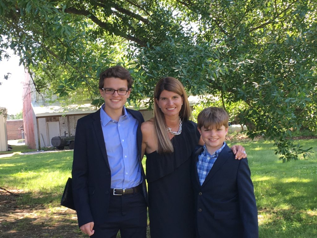 A photo of my sons and me.