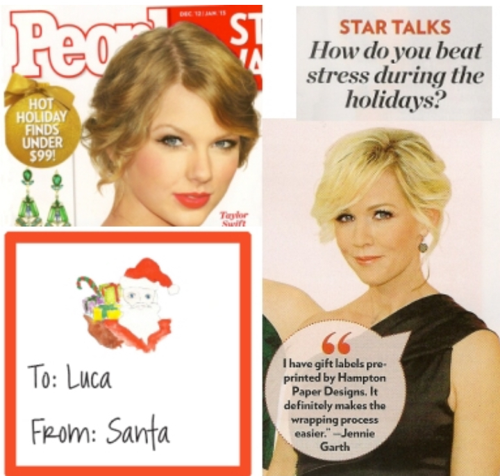 Jennie Garth shares how she simplifies gift wrapping with personalized stickers.