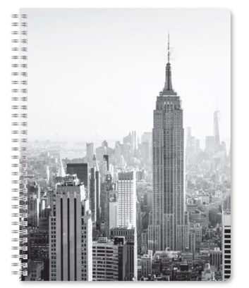 Notebook featuring the Empire State Building