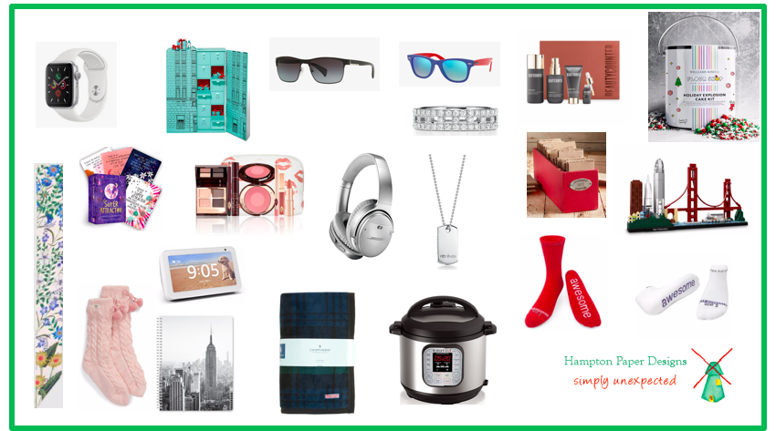 Picture featuring products that I recommend for holiday shopping.
