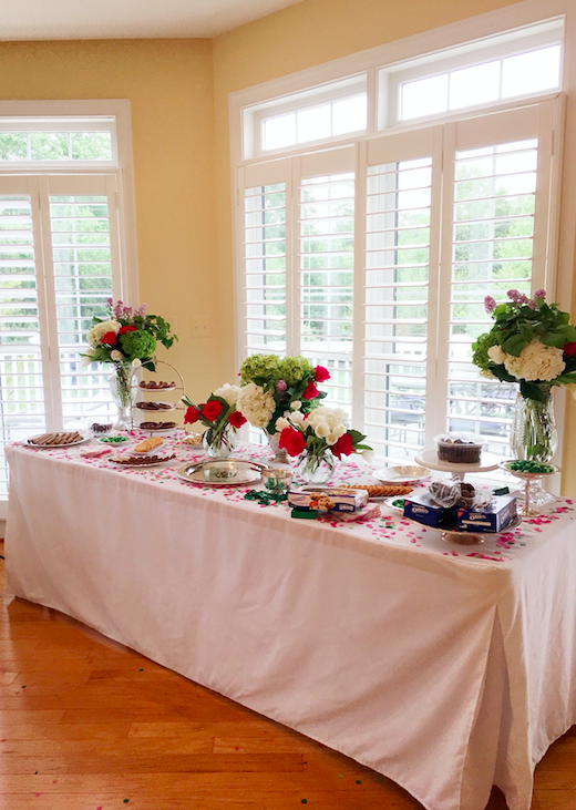 Candy table display for a Kentucky Derby Party.