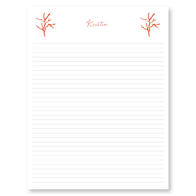 Red Coral Jumbo Notepads