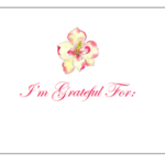 Image of a Magnolia on a gratitude card.