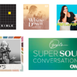 Image of a few podcasts I like including Oprah and Profit with Purpose.