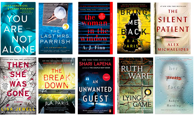 10 thriller books that you will not be able to put down.