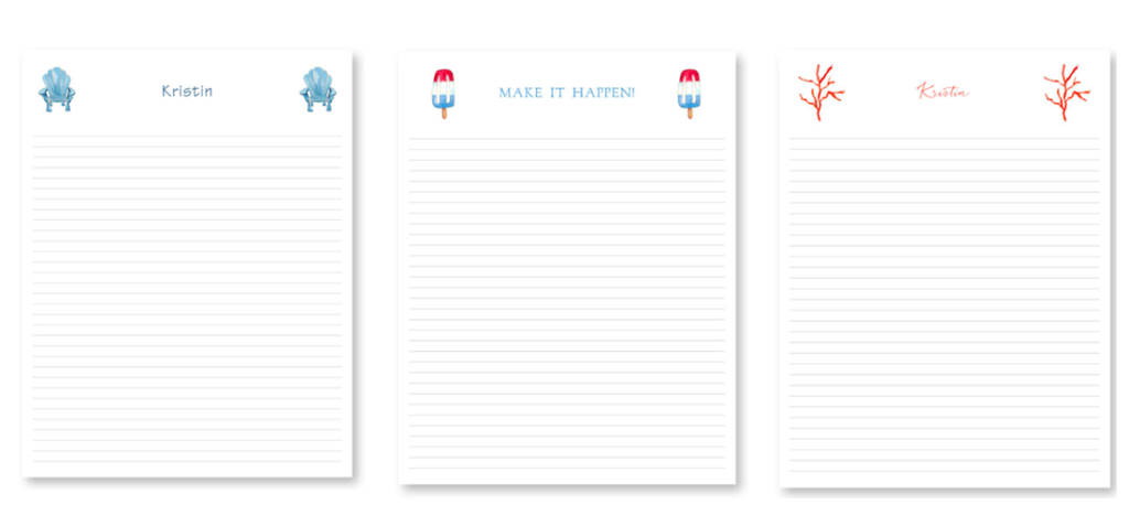 Personalized Jumbo Lined Notepads